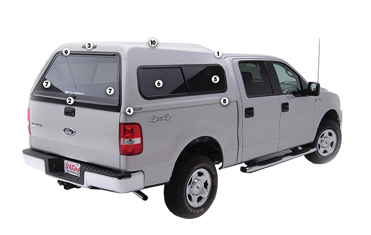 Hi LinerExtra headroom is the Hi-Liner Truck Capu0027s primary feature. The roofline slopes higher behind the cab to increase the available cargo area.  sc 1 st  SnugTop & Hi-Liner - Truck Cap   SNUGTOP
