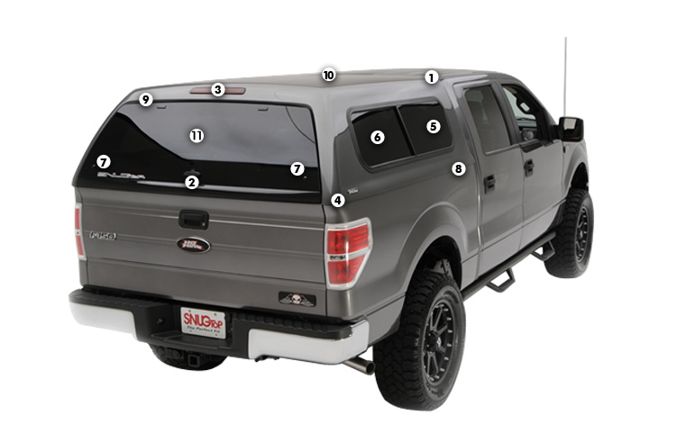 Sleek and Stylish that Provides Maximum Value with Top-of-the-Line Quality!  sc 1 st  SnugTop & Rebel - Truck Cap   SNUGTOP